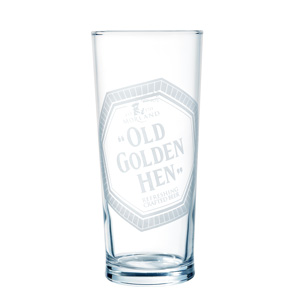 """Old Golden Hen"" Pint Glass"