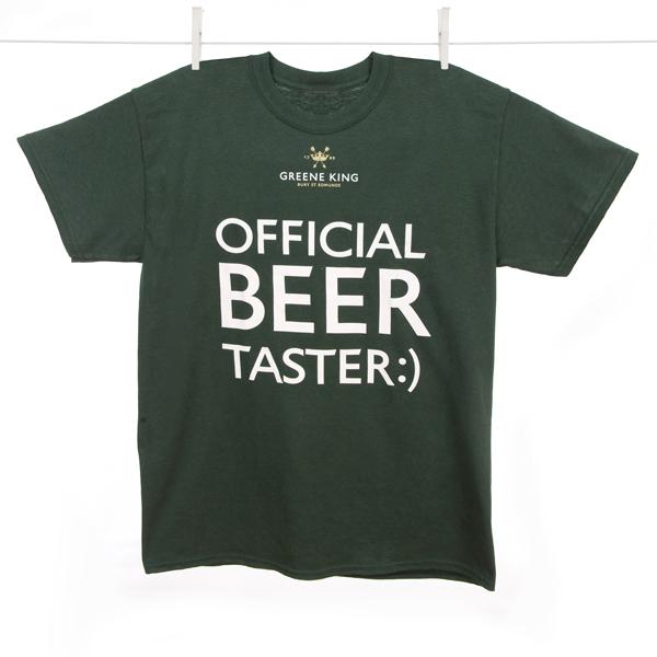 Beer Taster T Shirt - Green - Large
