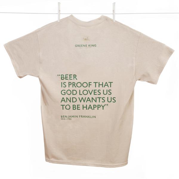 Beer is proof … T Shirt - Stone - Medium
