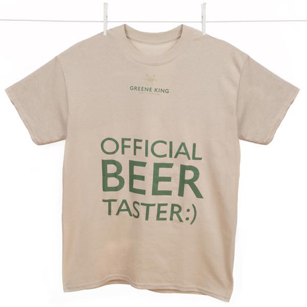 Beer Taster T Shirt - Stone - XXL