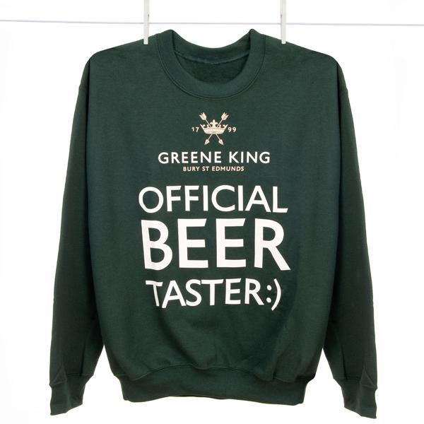 Beer Taster Sweatshirt - Green - Large
