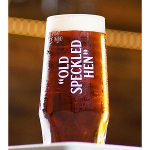 Old Speckled Hen Pint Glass