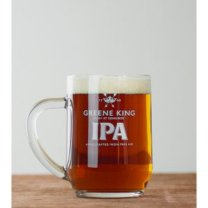 Greene King IPA Glass Tankard