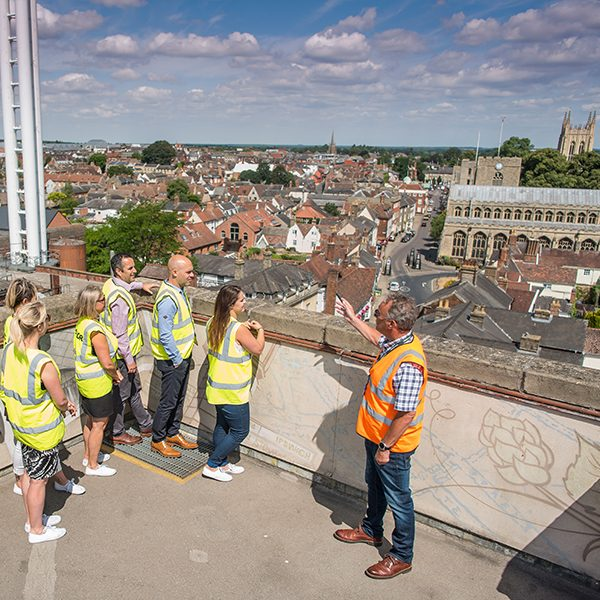 Bury St Edmunds from Greene King Brewhouse Roof