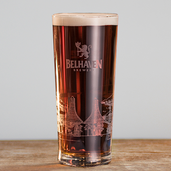 Belhaven Brewery Etched Pint Glass