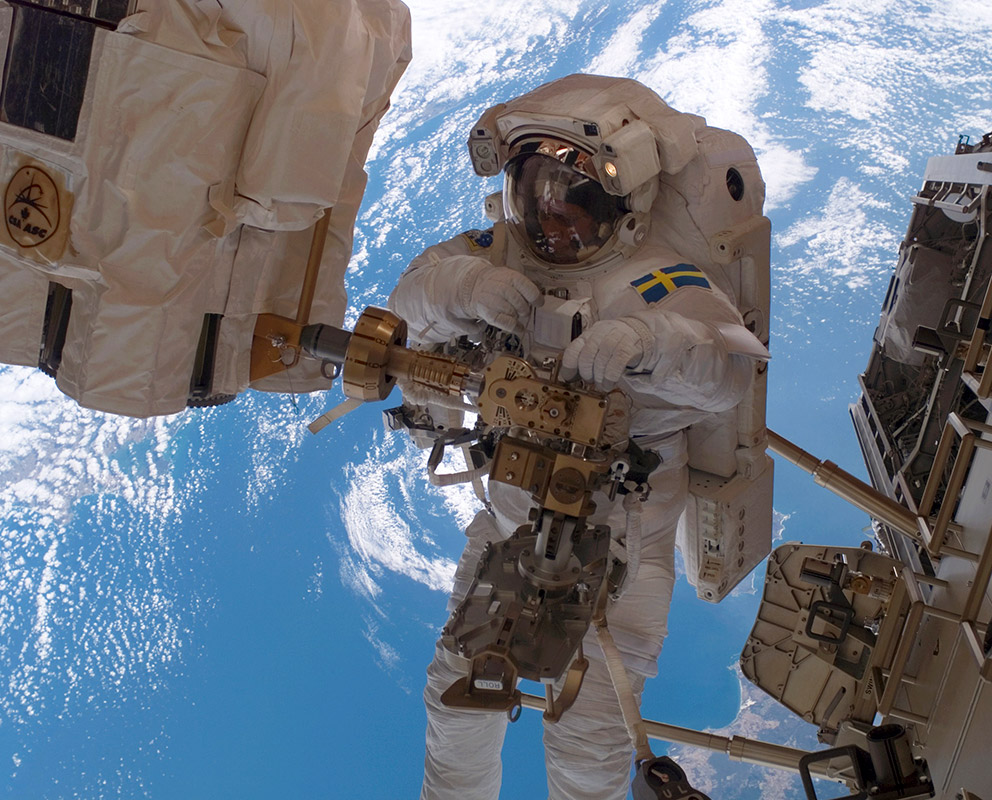Image: Christer Fuglesang in space.