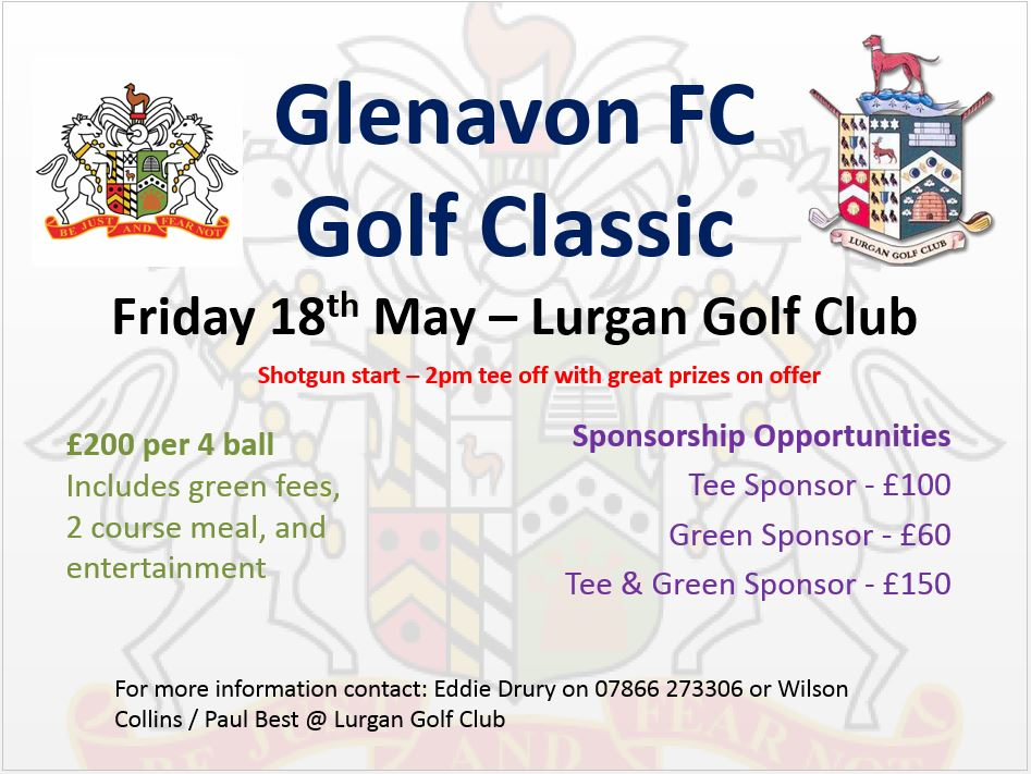 Annual Golf Classic Friday 18th May
