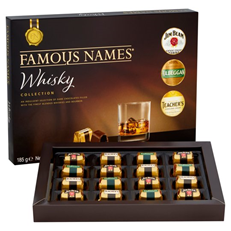 FAMOUS NAMES WHISKY COLLECTION CHOCOLATES 185g