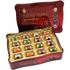 FAMOUS NAMES SIGNATURE COLLECTION CHOCOLATE LIQUEURS TIN 370g