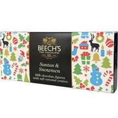 BEECH'S MILK CHOCOLATE SANTAS & SNOWMEN 100g