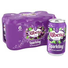 RIBENA SPARKLING BLACKCURRANT 330ml (6 PACK)