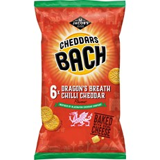 MINI CHEDDARS BACH DRAGONS BREATH CHILLI CHEDDAR 25g (12 x 6 PACK)