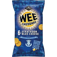 JACOBS MINI CHEDDARS WEE STRATHDON BLUE CHEESE 25g (12 x 6 PACK)