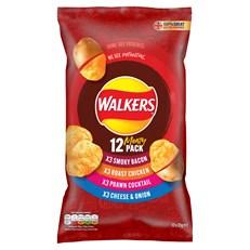 WALKERS MEATY VARIETY PACK 25g (15 PACK)