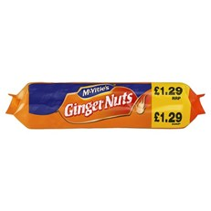 MCVITIES  GINGERNUTS £1.29 250g (12 PACK)