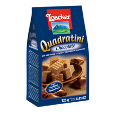 LOACKER QUADRATINI CHOCOLATE WAFER BISCUITS 125g (12 PACK)