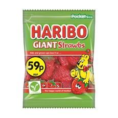 HARIBO 50P GIANT STRAWBS 70g (20 PACK)