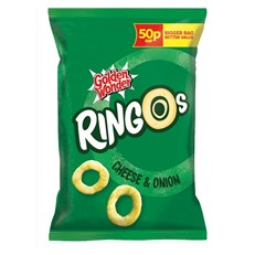 GOLDEN WONDER RINGOS CHEESE & ONION 18g 39p  (24 PACK)