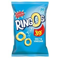 GOLDEN WONDER RINGOS  SALT & VINEGAR 18g 39P (24 PACK) 13 NOVEMBER DATED