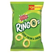 GOLDEN WONDER RINGOS SOUR CREAM & ONION 18g 39P (24 PACK)