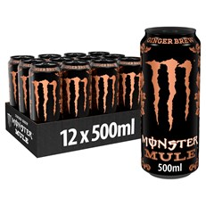MONSTER ENERGY DRINK MULE GINGER BREW 500ml (12 PACK)
