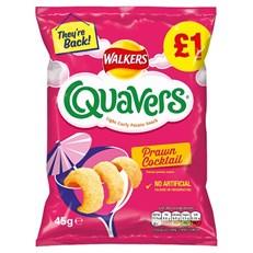 WALKERS QUAVERS PRAWN COCKATAIL £1 45g 26 JUNE DATED