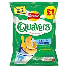 WALKERS QUAVERS SALT & VINEGAR £1 45g