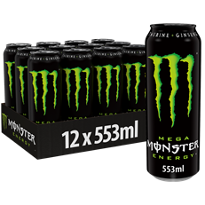 MONSTER ENERGY DRINK CANS RESEALABLE 553ml £1.49 (12 PACK)