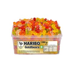 HARIBO TUBS 1p GOLD BEARS