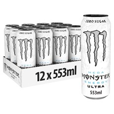 MONSTER ENERGY DRINKS WHITE ULTRA RESEALABLE CAN 553ML £1.39 (12 PACK)