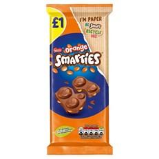 SMARTIES ORANGE CHOCOLATE  90g £1 (14 pack)