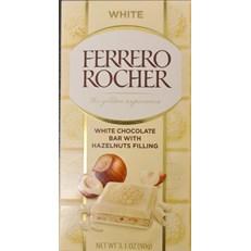FERRERO ROCHER WHITE CHOCOLATE BAR WITH HAZELNUTS FILLING 90g