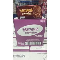 MARYLAND CHUNKY WHITE CHOC BROWNIE BISCUITS 144G (12 PACK)