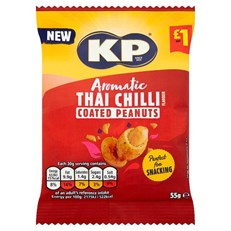 KP THAI CHILLI COATED PEANUTS 55g £1 (16 pack)