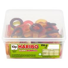HARIBO TUBS 10p GIANT DUMMIES