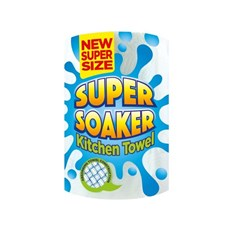 SUPER SOAKER KITCHEN TOWEL SUPER SIZE SINGLE Roll