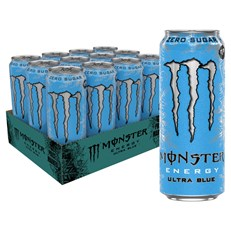 MONSTER ENERGY DRINK ULTRA BLUE £1.35 500ml 12 CANS