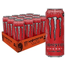 MONSTER ENERGY DRINK ULTRA RED £1.25 12 CANS