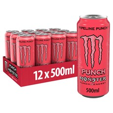 MONSTER ENERGY DRINK PIPELINE PUNCH £1.39 500ml 12 CANS
