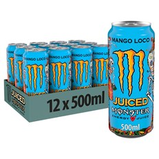 MONSTER ENERGY DRINK MANGO LOCO £1.39 500ml 12 CANS