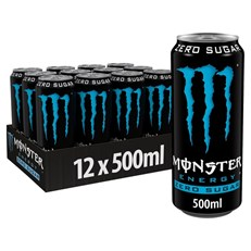 MONSTER ENERGY DRINK ABSOLUTE ZERO 500ml (12 PACK)