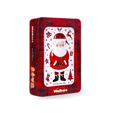 WALKERS PURE BUTTER SHORTBREAD SANTA CLAUS TIN 250g 30 NOVEMBER DATED