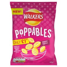 WALKERS £1 POPPABLES SWEET CHILLI