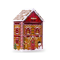 WALKERS PURE BUTTER SHORTBREAD GINGERBREAD HOUSE TIN 200g 30 NOVEMBER DATED