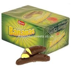 CARLETTI CHOCOLATE BANANAS 30g (30 PACK)