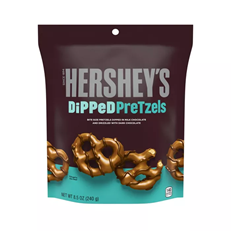 USA HERSHEY'S MILK CHOCOLATE DIPPED PRETZELS 120g