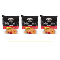 GRACE PLANTAIN CHIPS UNSALTED 85g (3 PACK)