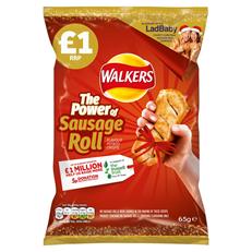 WALKERS CRISPS SAUSAGE ROLL 65g £1 (15 PACK)