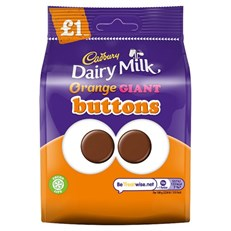CADBURYS DAIRY MILK ORANGE GIANT BUTTONS 95g (10 PACK)