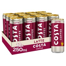 COSTA COFFEE LATTE 250ml CAN (12 PACK)
